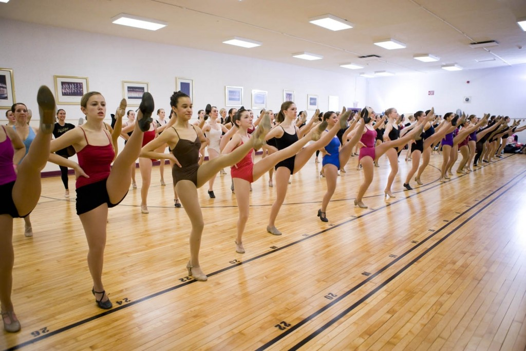 January 29, 2011: Auditions for the 2011 Rockette Summer Intensive in the large rehearsal hall at Radio City Music Hall. The Rockette Summer Intensive offers aspiring professional dancers the unique opportunity to train with the Radio City Rockettes as well as a Rockette Director/Choreographer, and learn their world famous precision dance technique.